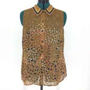 Cabi Clothing Sleeveless Cheers Blouse, #3436, Med